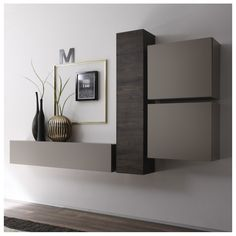 Amazing Wall Storage Items For Your Contemporary Living Room - Floating wall storage is a mixture of sensible storage and residential décor vogue the place the storage unit is mounted to the wall and is used to handle CDs and DVDs. Hall Furniture, Living Room Furniture, Furniture Design, Office Furniture, Home Living Room, Living Room Designs, Living Room Decor, Wall Storage, House Design