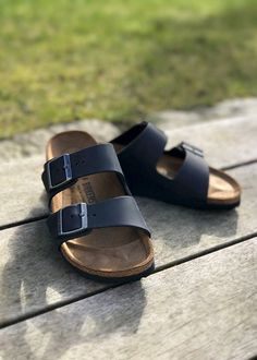best service 5d23f 380c9 Birkenstock Sandal læder sort 552113 Arizona Black Oiled Leather - smal