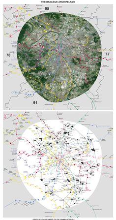 The 'banlieue archipelago' in Paris