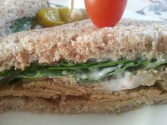 "Best vegan roast beef sandwich! Roast is from "" The Gentle Chef"" cookbook availabe through amazon.com"