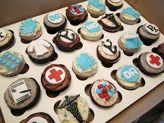 Medical School Graduate Cupcakes by Cutie Cakes WY, via Flickr