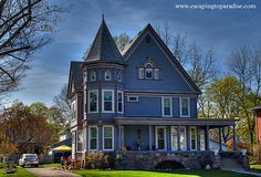A cool looking Victorian style home in Owosso Michigan.