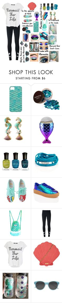 """Opposite of Ariel"" by sofiagarcia-27 ❤ liked on Polyvore featuring Deborah Lippmann, Blooming Lotus Jewelry, Hot Topic, Liliana, J. Valentine, adidas Originals, Iron Fist, Skinnydip and Boohoo"