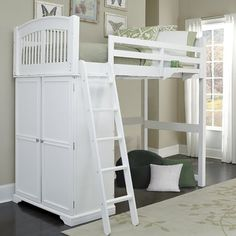 Viv + Rae Tracy Loft Bed Finish: White