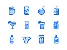 Beverages Icons by Sooodesign #Design Popular #Dribbble #shots