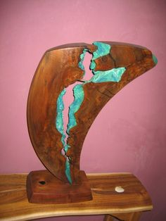 claro walnut root sculpture