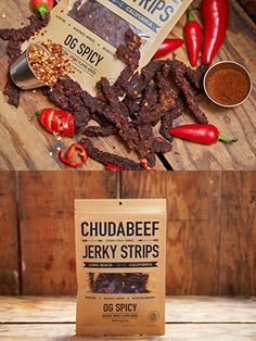 Excellent Photo Meat snacks packaging Tips, Beef Jerky Meat Snacks, OG Spicy oz. - From Chudabeef Listed here are High Carb Snacks, Easy Snacks, Best Jerky, Packaging Snack, Healthy Eating Tips, Healthy Nutrition, Meat Packing, Organic Beef, Vegetable Drinks