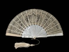 Lace fan c1880 - Felix Tal collection