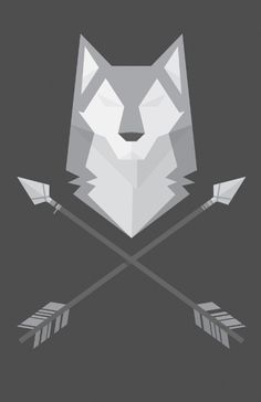 Geometric Wolf Art Print by Nate Xopher