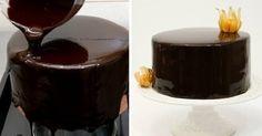 Zrkadlový efekt na torte. Vyskúšajte, vám aj vašej návšteve urobí veľkú radosť.