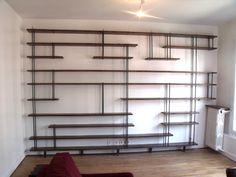 Bibliothèque sur mesure bois métal - MICHELI Design