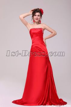 1st-dress.com Offers High Quality Modern Red A-line Strapless Formal Evening Dress,Priced At Only US$165.00 (Free Shipping)