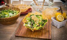 Home & Family - Recipes - Cristina Cooks – Parmesan Salad Bowls With Light Caesar Salad | Hallmark Channel