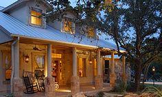 Small Texas Hill Country Home Design Porch Beams