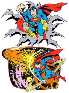 Superman by José Luis García-López from the 1982 DC Comics Style Guide Superman Characters, Superman Comic, Comic Book Characters, Comic Character, Comic Books Art, Batman, Superman And Lois Lane, Garcia Lopez, Comics