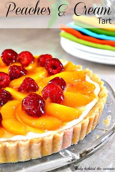 Though the peaches are obviously the star, top with fresh raspberries for a tart contrast. Get the recipe from Lady Behind the Curtain.    - Delish.com