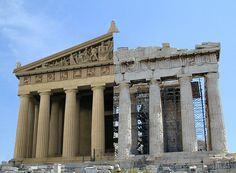Parthenon - Original and Simulation