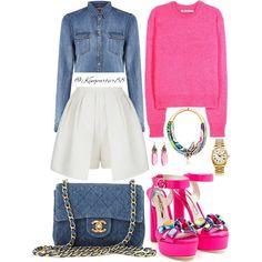 """SWEET-TART ________________________________________ Top : #SEVENFORALLMANKIND Sweater: #TBYALEXANDERWANG  Shorts: #SASSANDBIDE Shoes: #SOPHIAWEBSTER…"""