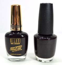 Nail Polish Dupes (Milani Rapid Orchid for oPI Lincoln Park After Dark)