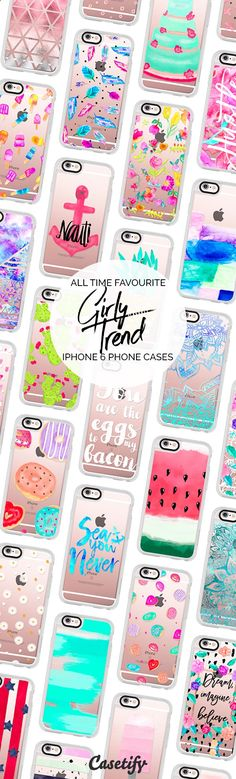 Phone Cases - All time favourite iPhone 6 protective phone case designs by Girly Trend | Click through to see more iphone phone case ideas >>> www.casetify.com/... #chic | Casetify