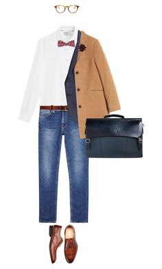 Men's Fashion, dress down Friday #businessattire . by fashionablychicny on Polyvore featuring polyvore, MANGO MAN, Nudie Jeans Co., Folk, raen, Lanvin, 14th & Union, Santoni, J.Crew, CO-OP Barneys New York, men's fashion, menswear and clothing