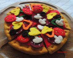 Felt Pizza Pepperoni Felt Food eco friendly childrens by decocarin