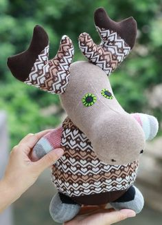 T8  Plush stuffed animal Personalized toys  deer  by Toyapartment