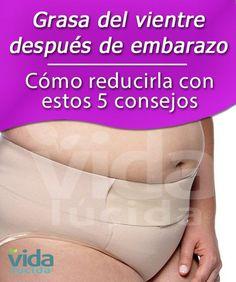 Cómo reducir la grasa del vientre después del embarazo con estos 5 consejos.