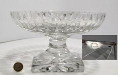 CRISTAL St LOUIS rare coupe sur pied modèle JERSEY commande spéciale diam25cm St Louis, Glass Crystal, Antique Glass, Glass Art, Creations, Crystals, Antiques, Cutaway, Antiquities