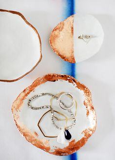 DIY: Jewelry Dishes With Copper Touches
