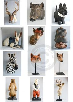 Paper Mache Clay, Paper Mache Sculpture, Clay Art, Sculpture Art, Paper Mache Animals, Paper Art, Paper Crafts, Ceramic Animals, Paperclay