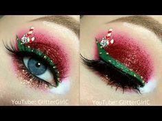 Glitter Glam Christmas Makeup - YouTube
