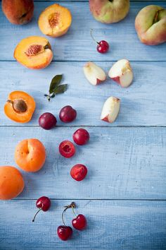 """Stone Fruit Love by the wonderful food photographer Helene Dujardin. She is the author of """"Plate to Pixels"""". Check out her food blog """"Tartelette""""! She also teaches workshops!"""