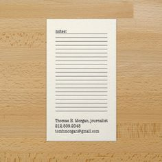 How adorable are these business cards - 'notes' space - I imagine I could scribble book recs on it!