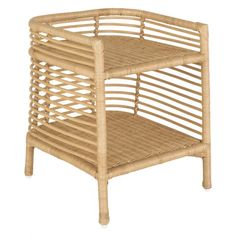 The Nadia natural handwoven rattan bedside table with shelf is a light, airy design with a distinctive contemporary shape. Buy now at Habitat UK.