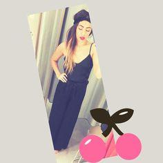 Loving my new black playsuit - H&M