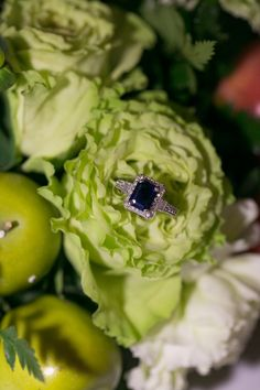 beautiful ring amongst gorgeous flowers