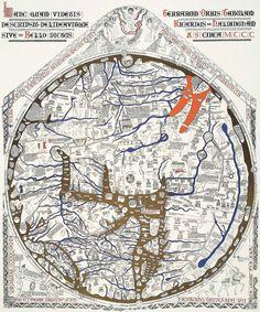 Mappa Mundi, Hereford Cathedral, 1275