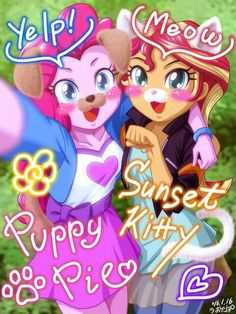 Pinkie and Sunset