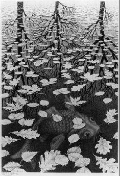 Unknown Artist MC Escher Three Worlds art painting for sale; Shop your favorite Unknown Artist MC Escher Three Worlds painting on canvas or frame at discount price. Mc Escher, Escher Kunst, Escher Art, Escher Prints, Escher Paintings, Art Museum, Wow Art, Fine Art, Art History