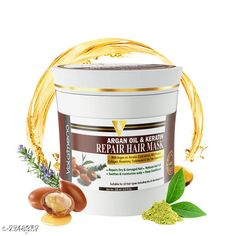 Checkout this latest Hair Cream & Masks Product Name: *Volamena Argan oil & Keratin repair Hair Mask* Product Name: Volamena Argan oil & Keratin repair Hair Mask Brand Name: Volamena Multipack: 1 Easy Returns Available In Case Of Any Issue   Catalog Rating: ★4.1 (798)  Catalog Name: Volamena Argan oil & Keratin repair Hair Mask CatalogID_1262928 C166-SC2011 Code: 812-7748367-846
