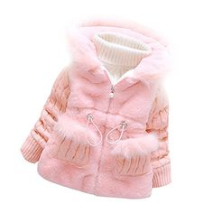 Baby Girls Infant Toddler Winter Knited Outerwear Coats Snowsuit JacketsPink23years ** Click image for more details.