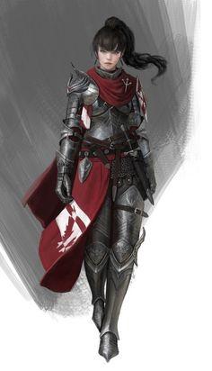 Fantasy Female Warrior, Female Armor, Female Knight, Fantasy Armor, Medieval Fantasy, Fantasy Character Design, Character Concept, Character Inspiration, Character Art