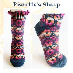 Sock pattern Biscotte's Sheeps