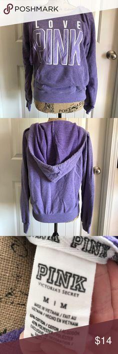 🌸 Medium VS PINK Hoodie in Purple Purple VS PINK Hoodie Worn only a couple times Pocket in front PINK Victoria's Secret Tops Sweatshirts & Hoodies