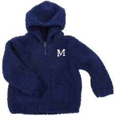 This snuggly sweater will keep a little one warm and comfy. Wrinkle-free fabric won't pill or shrink. A Little Bit Of This Microchenille Hooded Jacket Navy. Click the image to get more information about the product, including personalization options, at our online store!
