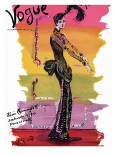 Vogue Cover - September 1939 Poster Print by Christian Berard at the Condé Nast Collection