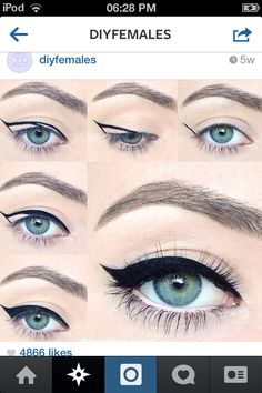 Easy way to do eyeliner