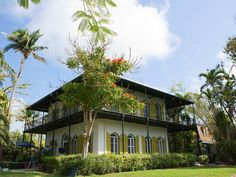 Key West's Ernest Hemingway House is arguably South Florida's most famous dwelling. It was built in1851 by the architect Asa Tift, and Hemingway moved there in 1931after purchasing the estate for a grand total of $8,000. Some oddball facts about the place: several descendants of Hemingway's cats still live here, many with extra-toes (polydactyls). Also, a James Bond movie, License to Kill, was filmed here in the 1980's.