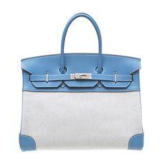 Size: W35 X H25 X D18cm Material: Toile H/Veau Crispe Togo Color: Bleu Jea Hardware: Silver Accessories: padlock,Key,Raincover,Cotton bag Shipping Weight: 3 kg